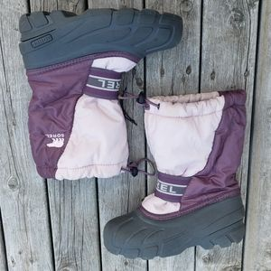 Sorel pink and purple winter snow boots